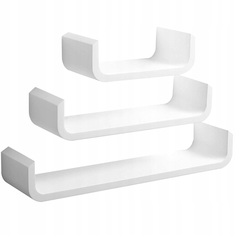 Woltu 3 Półki Na ścianę 605455305 Białe 50644
