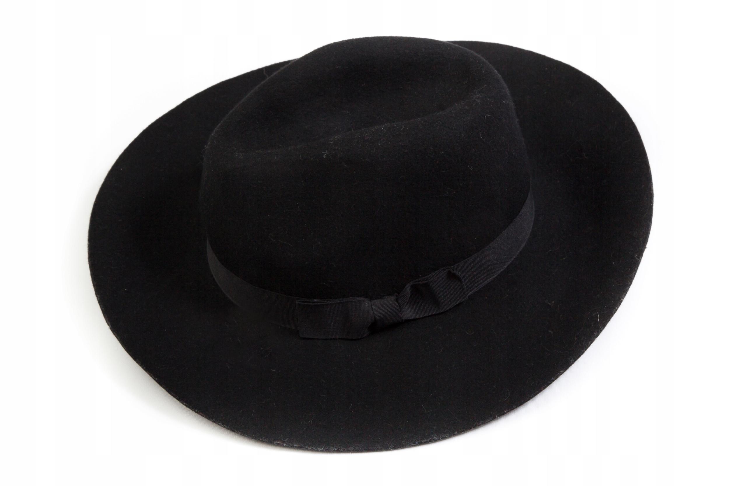 STRADIVARIUS - oryginalny kapelusz wełniany