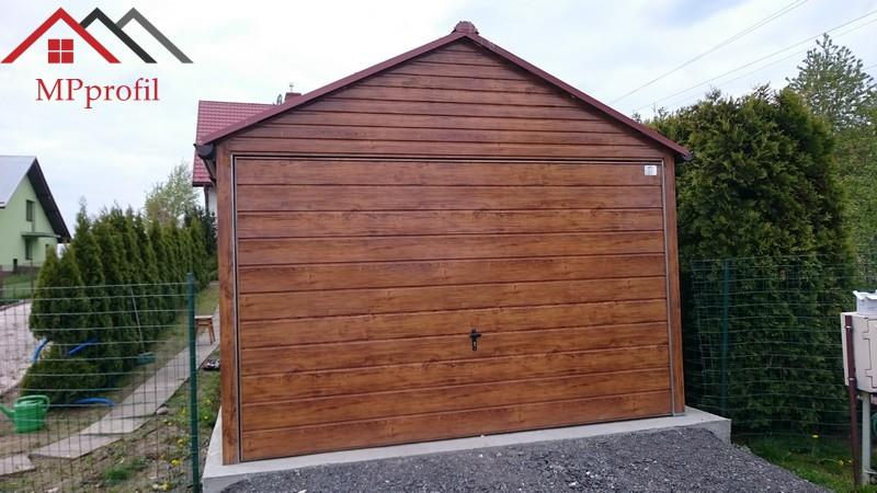 Garaż Blaszany 3x5 Całość Profil Drewnopodobny 7245753979