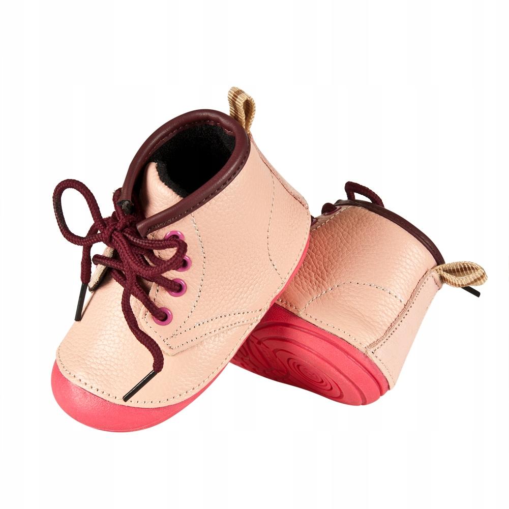 OUTLET: Buty SOXO skórzane różowe