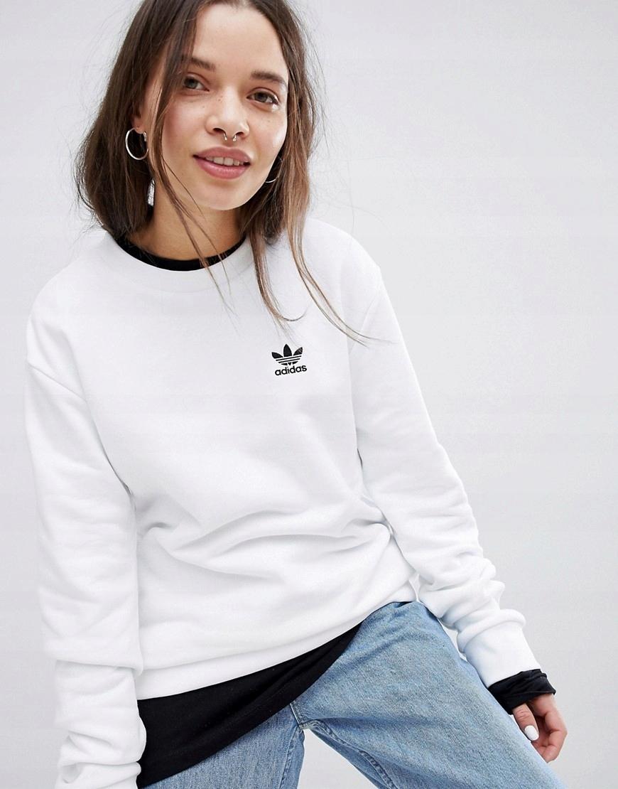 adidas bluza biała damska