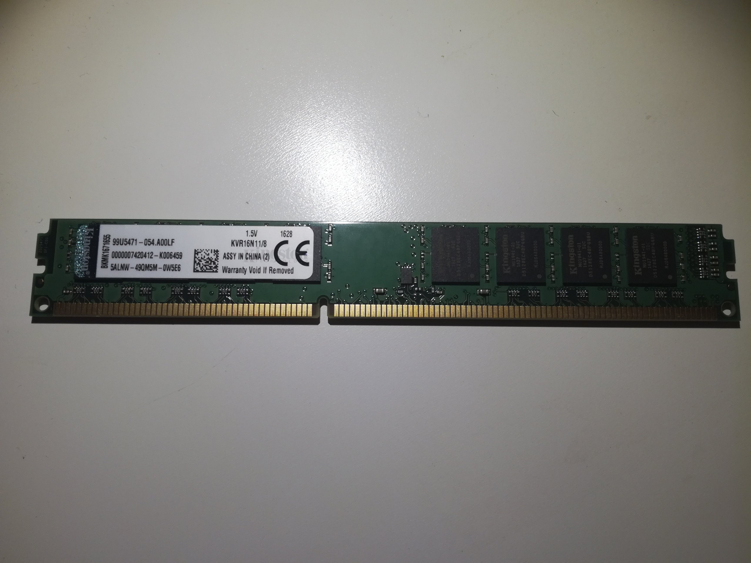 Pamięć RAM Kingston DDR3 8192MB 1600 8 GB od 1zl