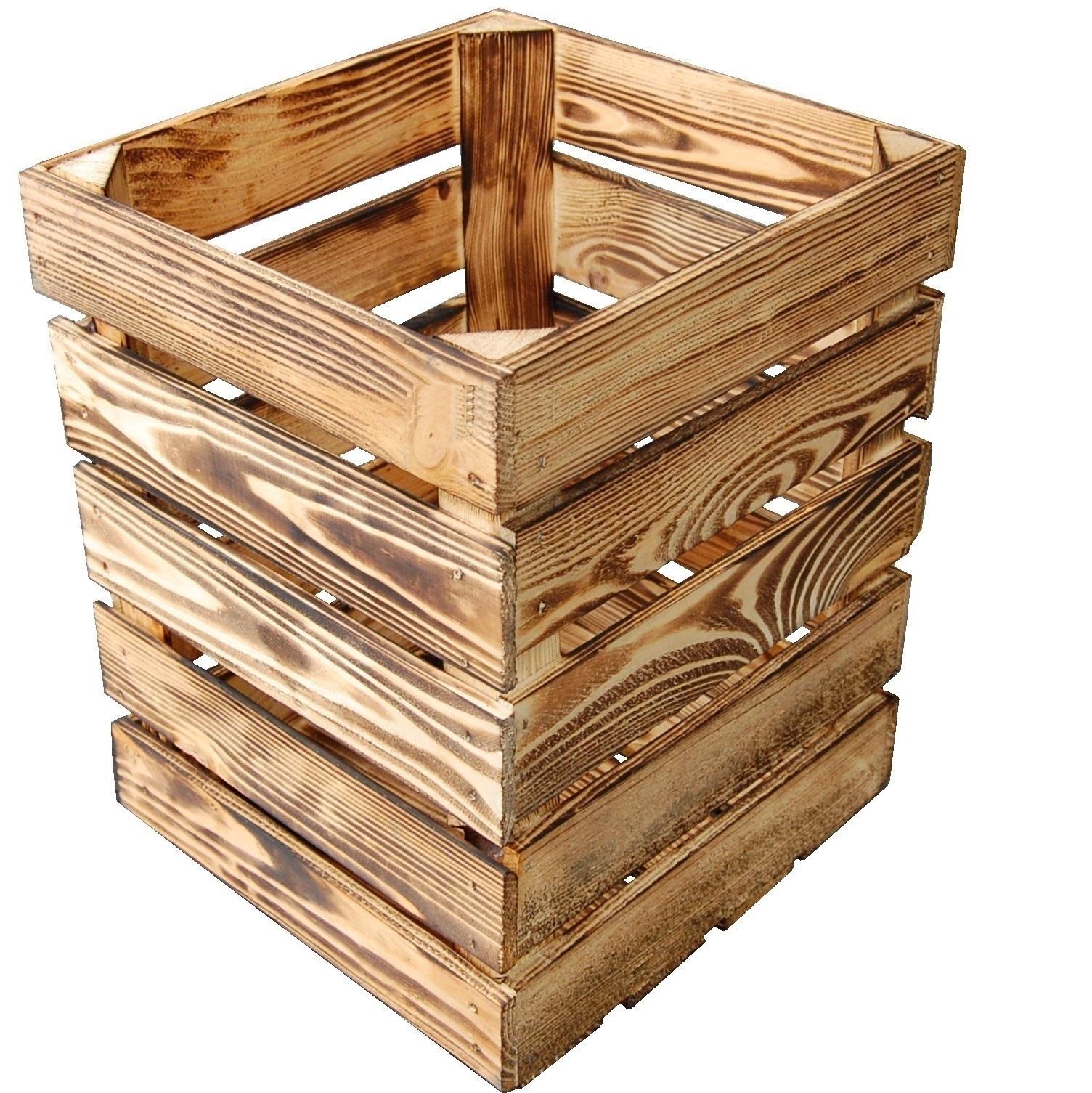 Niewiarygodnie Skrzynka Drewniana Deko Opalana Kosz na Śmieci D2 - 7109872421 UN42
