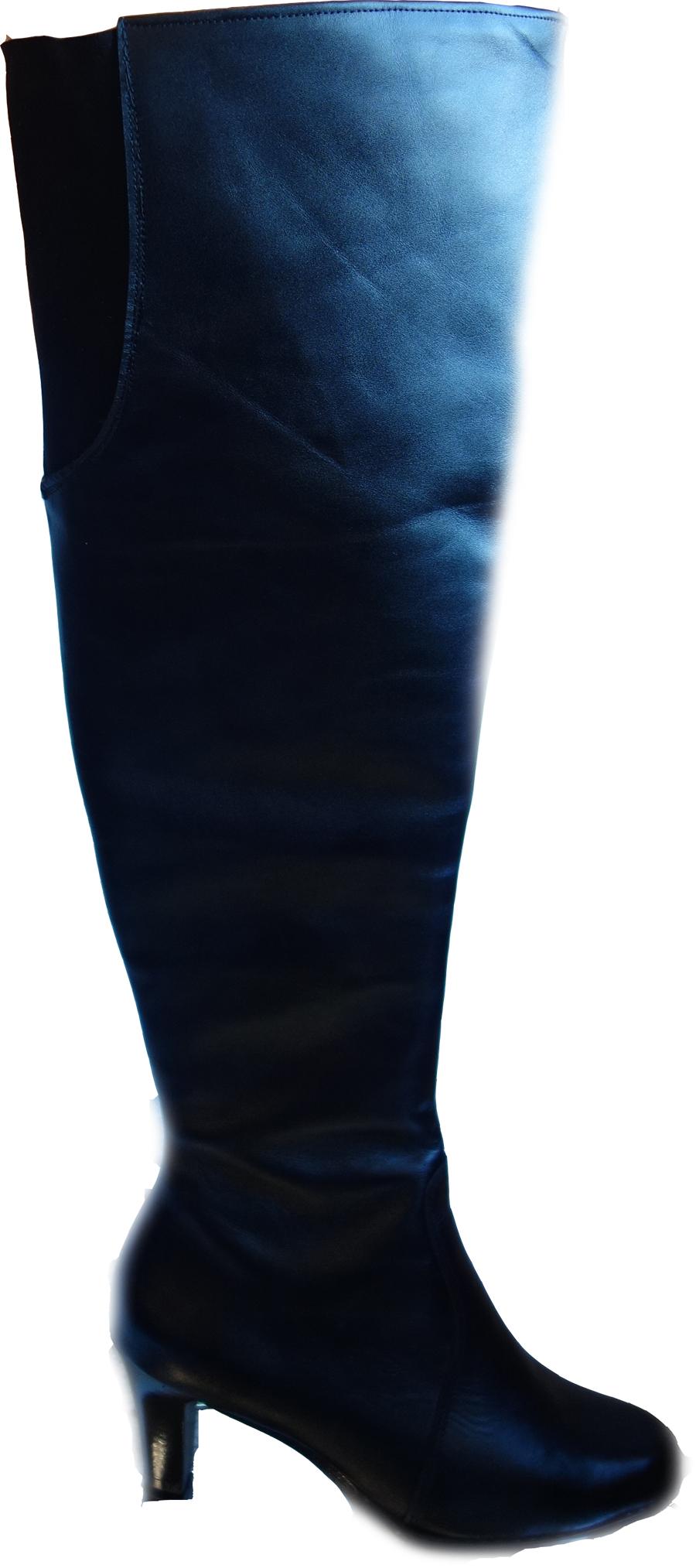 61ae881a0126d 40% skórzane KOZAKI szeroka cholewka aż 42 cm 41 - 7136132235 ...