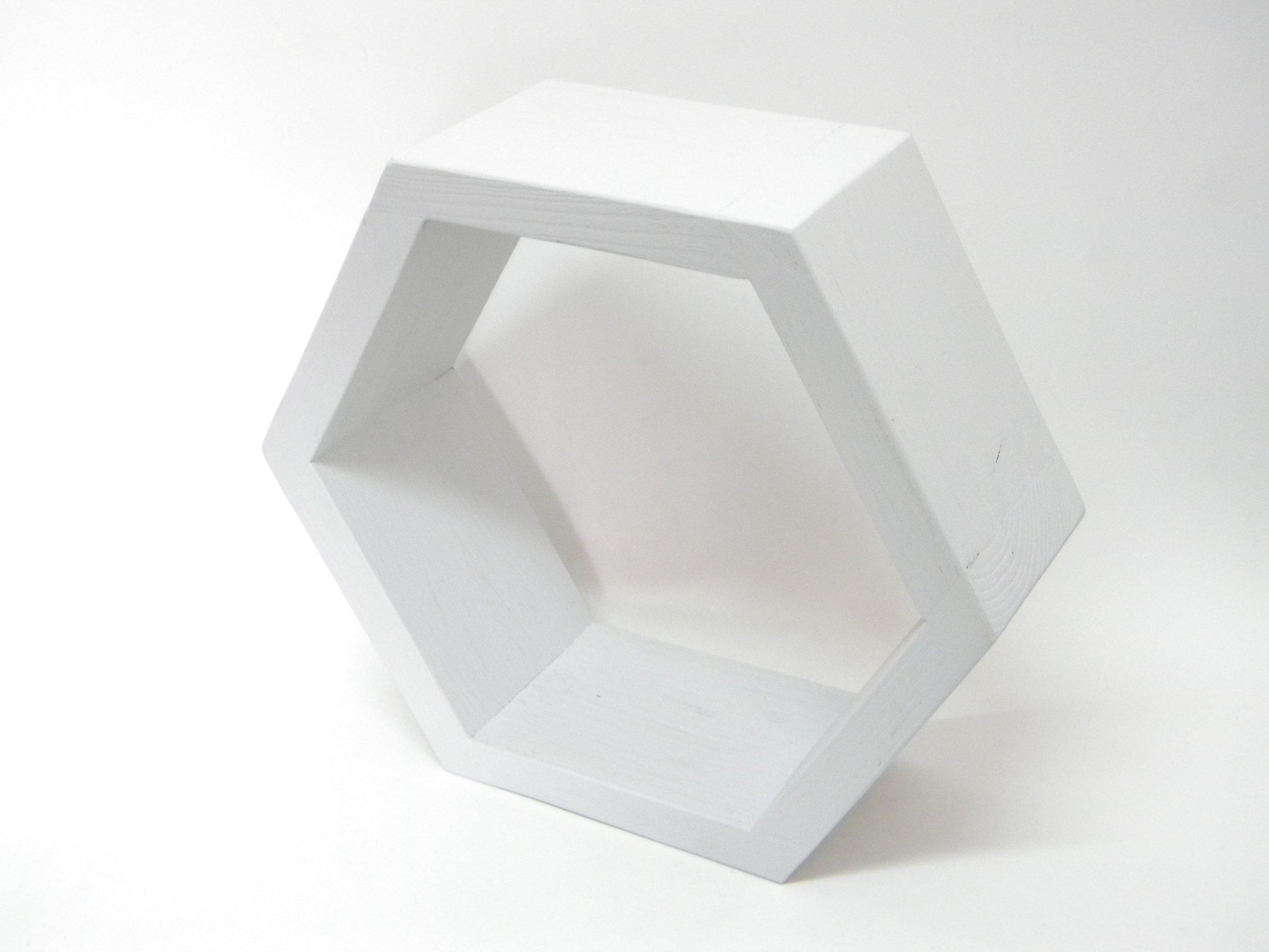 Drewniana Półka Plaster Miodu Hexagon Bcm