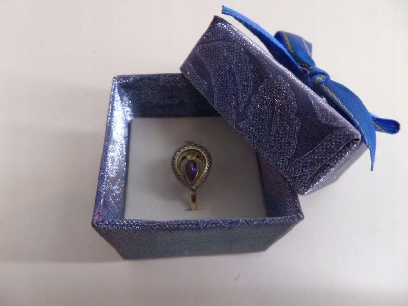 Pierścionek Fioletowy Kamień 585 R18 W 306g 7450048102