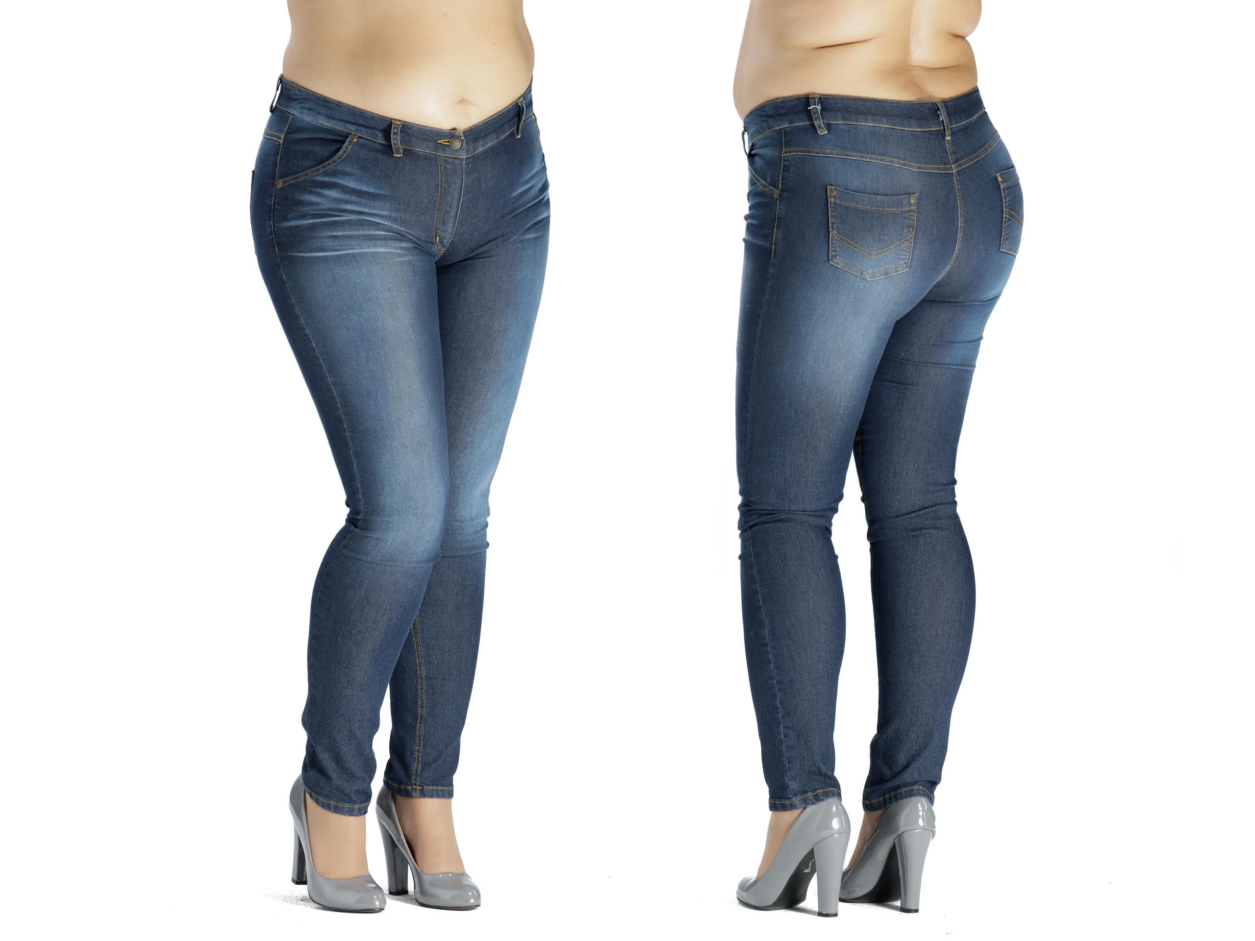 1269e54da396 SPODNIE jeansowe rurki PLUS SIZE duże rozmiary 56 - 6961813149 ...