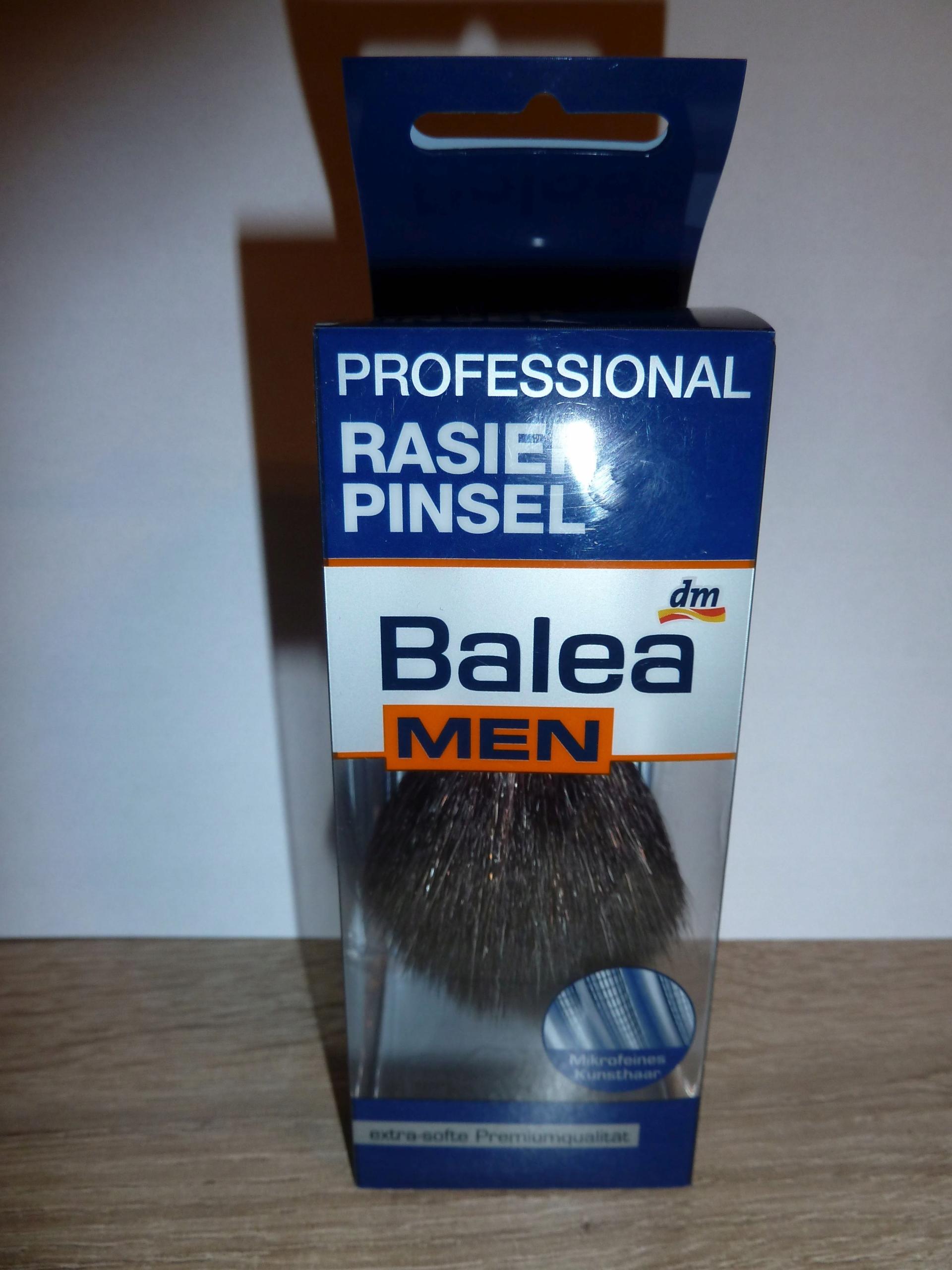 Pędzel Balea MEN Professional syntetyk + stojak