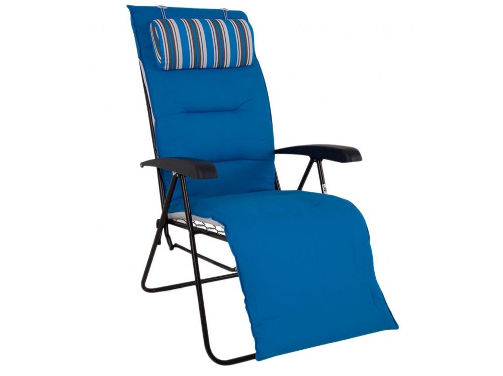 460850 Patio Fotel Leżak 7 Pozycyjny Z Podnóżkiem
