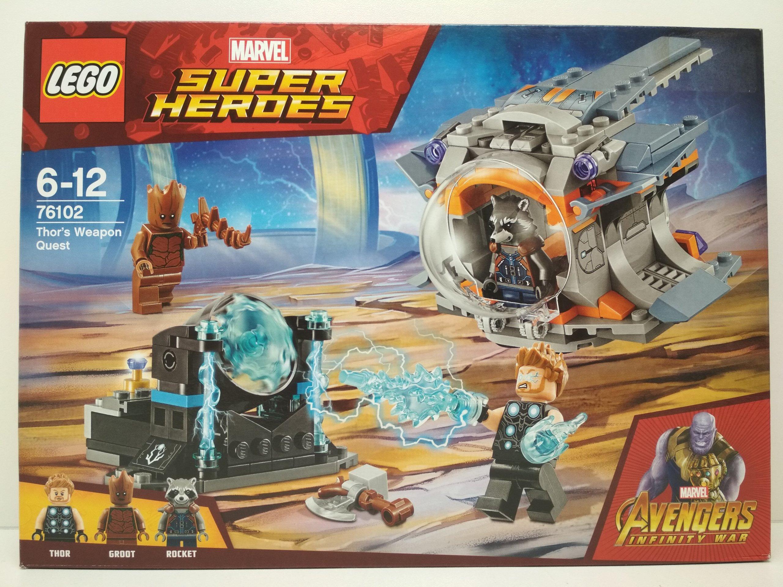 Lego Marvel Super Heroes Broń Thora 76102 7361051143 Oficjalne