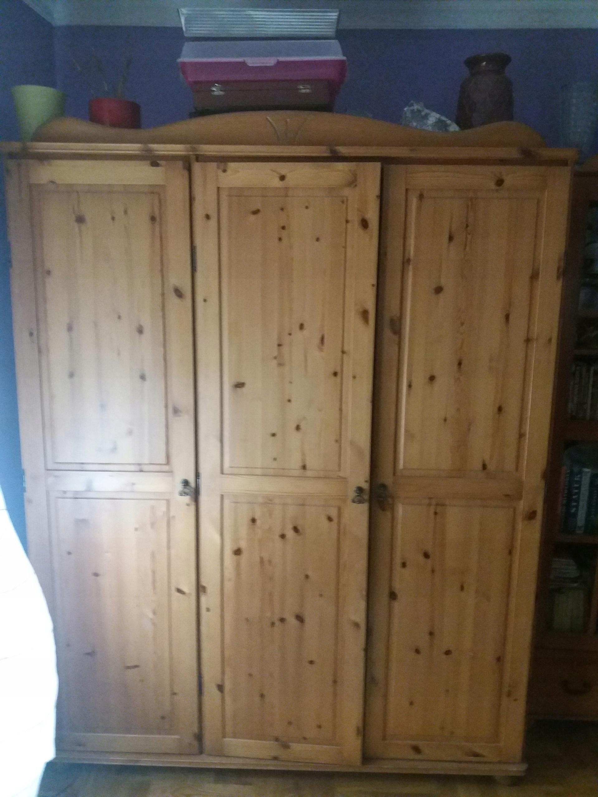 Szafa Drewniana Sosnowa Ikea 3 Drzwiowa 7591509547 Oficjalne