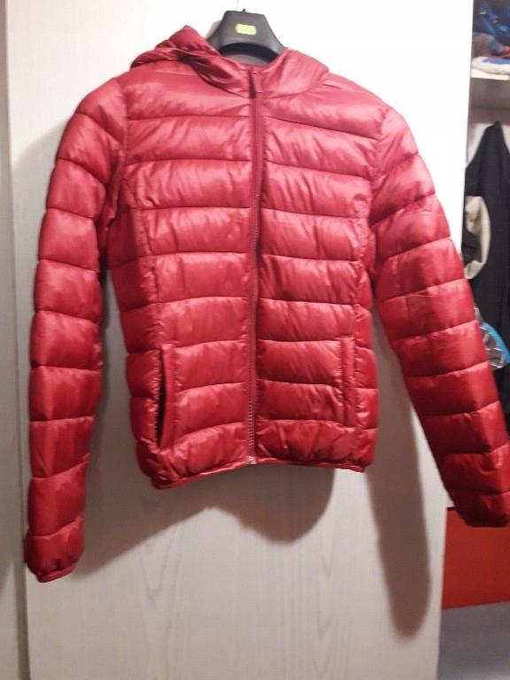 c231537abe02 pikowana kurtka czerwona xs - 7698963509 - oficjalne archiwum allegro