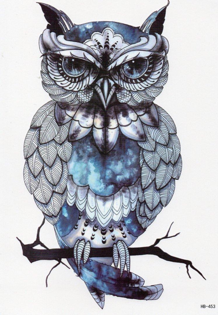 Tatuaż Zmywalny Tatuaże Mała Sowa 105 X6 Ls009 7027403126