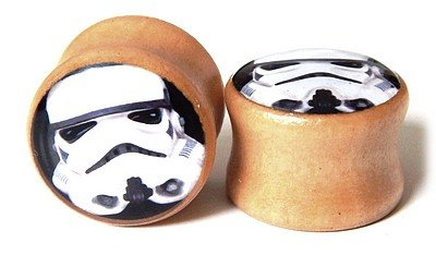 plug tunel drewniany Star Wars Stormtrooper 16mm