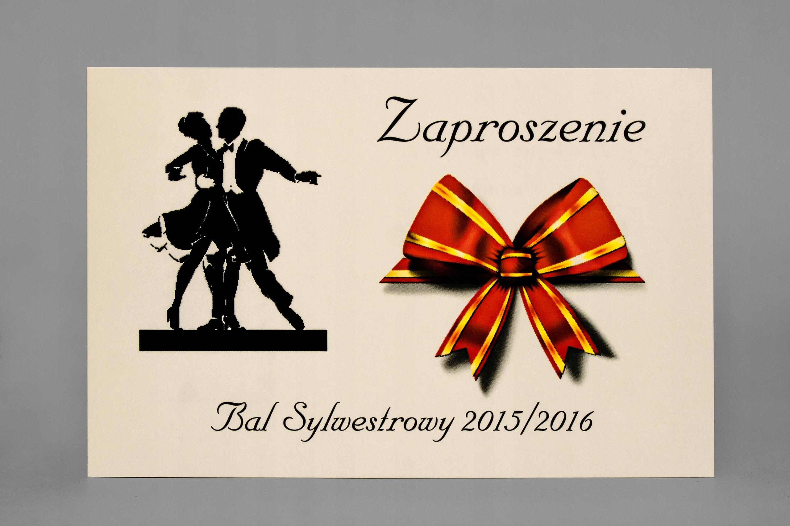 Zaproszenia Na Bal Sylwestrowy Sylwestra Z Kopertą 7634668754