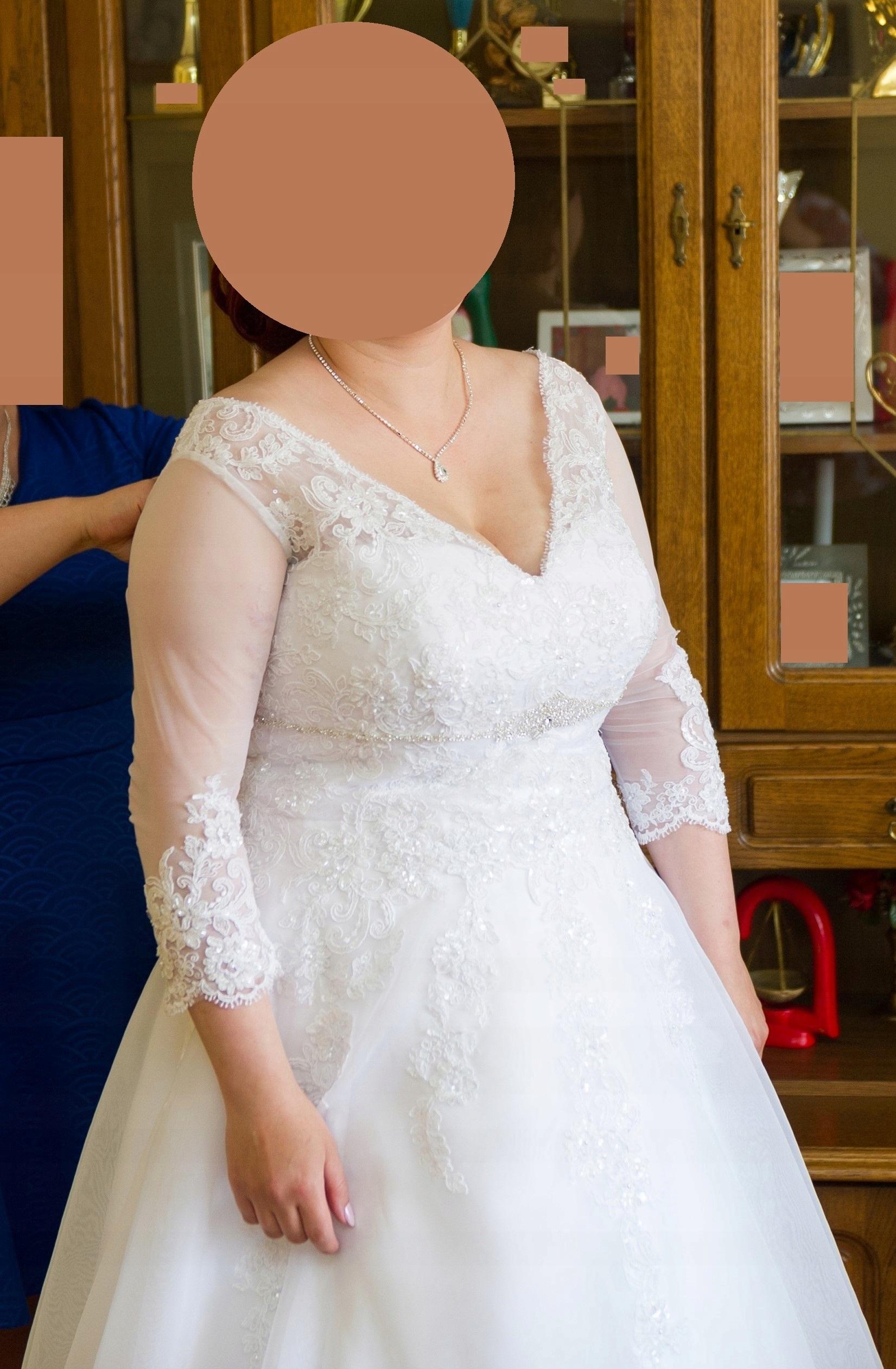 6ccca87570 Suknia ślubna z rękawkiem AGNES 16143 - 7505228819 - oficjalne ...