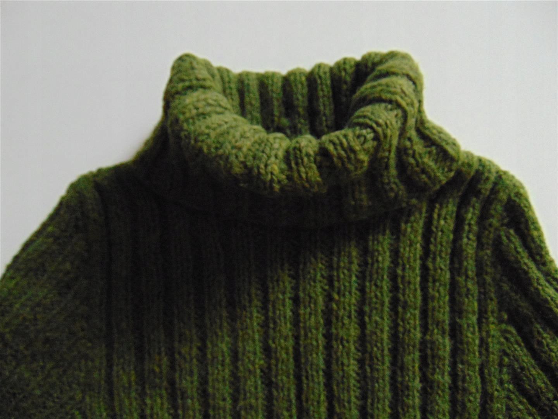 Golf sweter damski owcza wełna hand made rozm. M