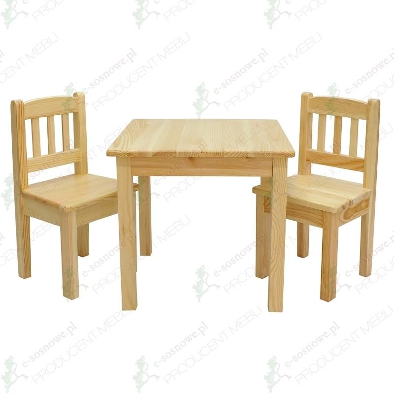 Zestaw Stolik Krzesełka Dla Dzieci Drewniany 7430624009
