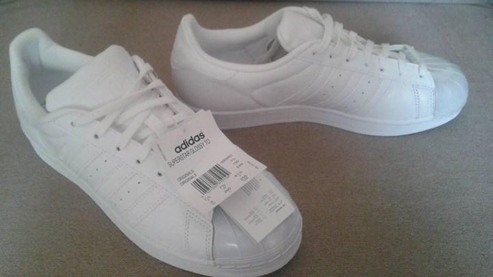 Adidas superstar glossy toe white damskie 7324809840