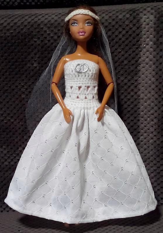 Szydełkowa Suknia ślubna Ubranko Dla Barbie 7575471715 Oficjalne