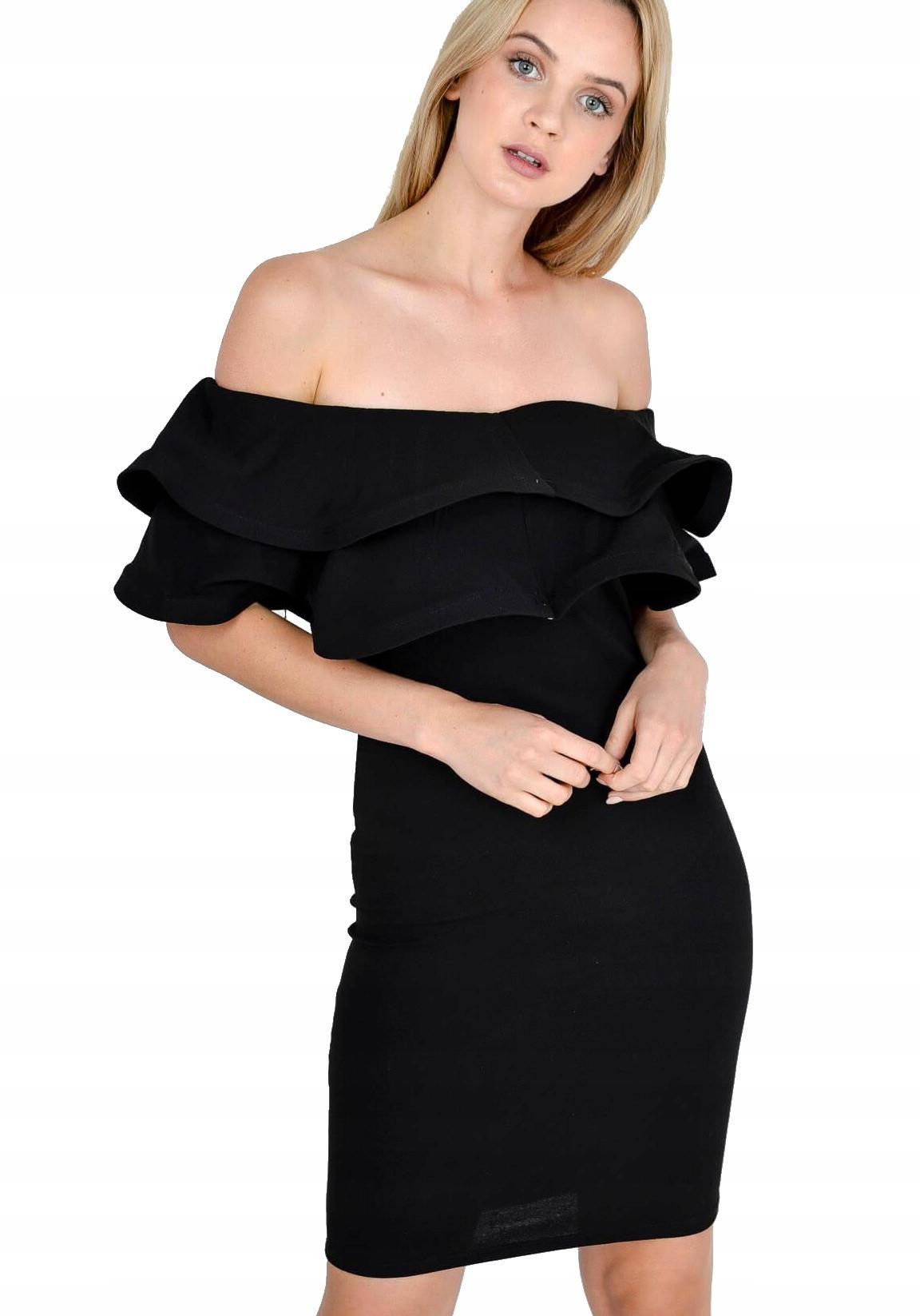 73a6c916c6 Elegancka sukienka hiszpanka z podwójną falbaną - 7480349220 ...