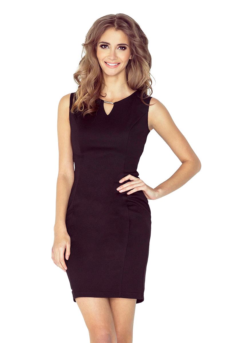 45163775af sukienka dopasowana z klamrą elegancka mini hit M - 7130343051 ...