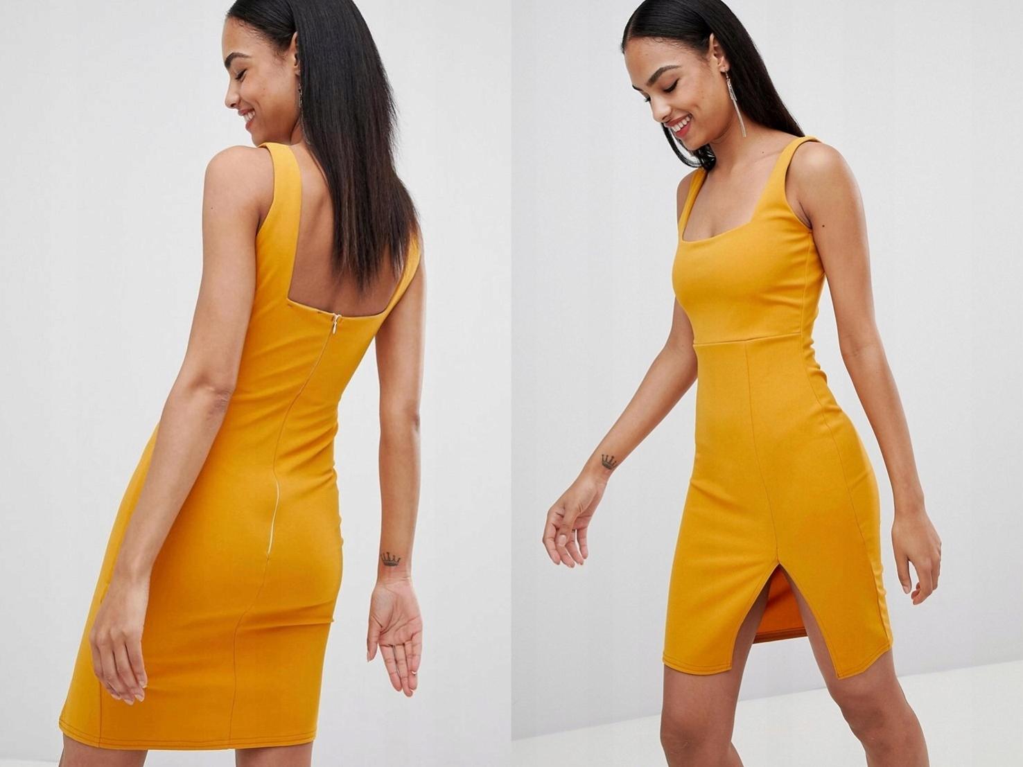 a020d2b6af Missguided Pomarańczowa Sukienka Mini M 38 - 7586239895 ...