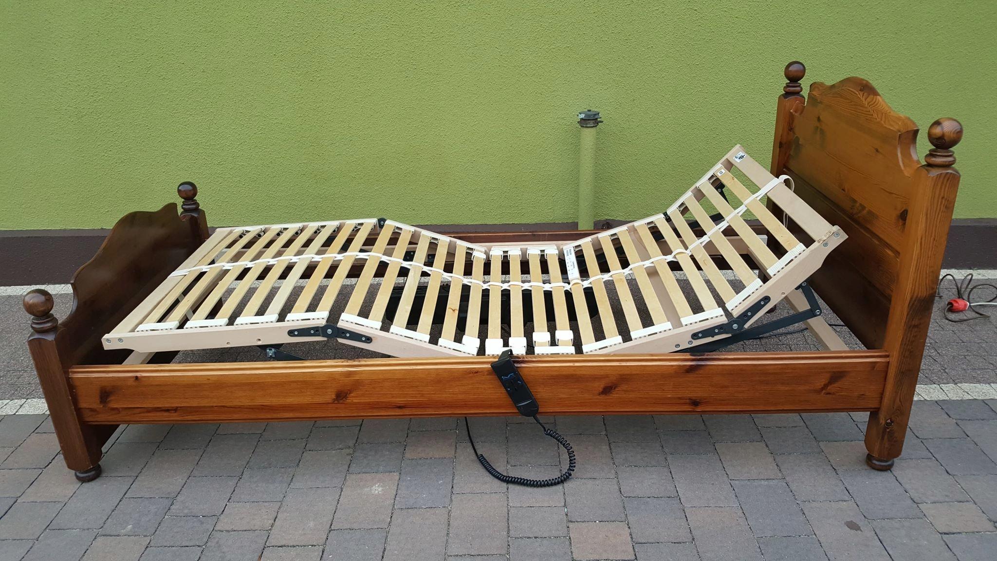 Drewniane łóżko Stelaż Elektryczny 90 X 200 Cm 7684803808