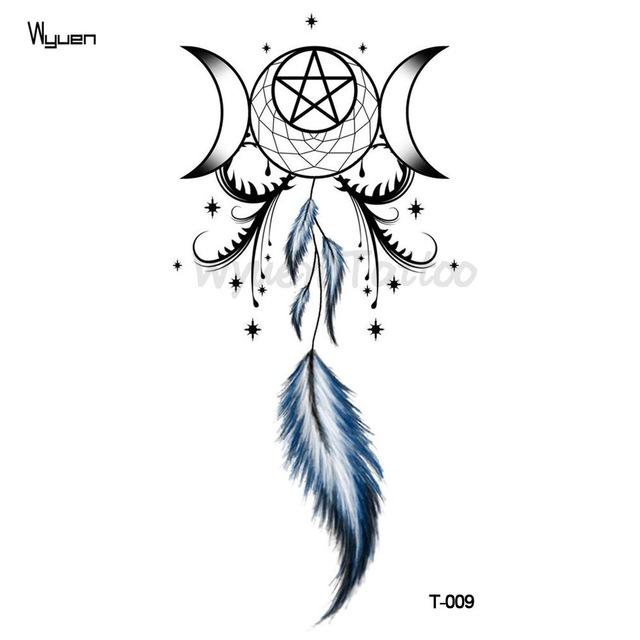 Tatuaż Zmywalny łapacz Snów Gwiazda Pióro 7338941737