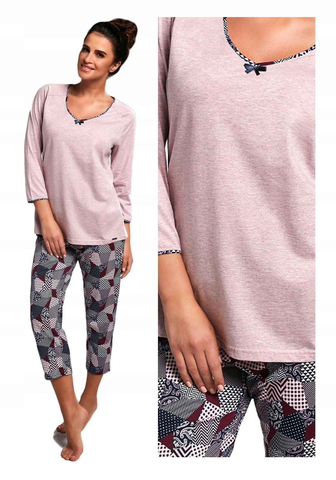 354eb4af49e5cd piżama damska CORNETTE 162/176 SUZIE długa XXL 44 - 7481277241 ...