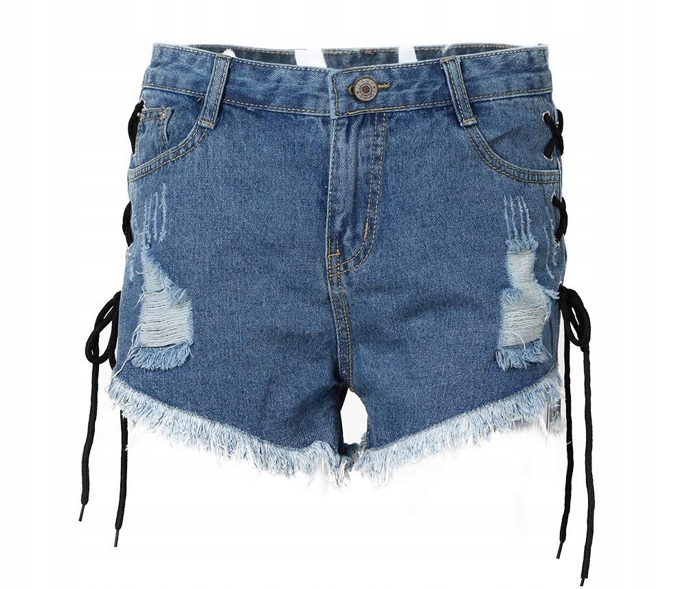 187f7839 Krótkie spodenki damskie szorty jeansowe lato L 40 - 7081180043 ...