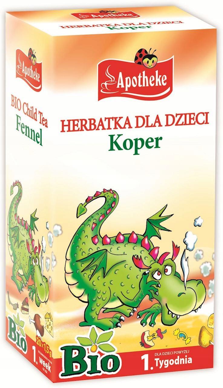 Apotheke Herbatka Dla Dzieci Koper Bio 20 x 1,5g