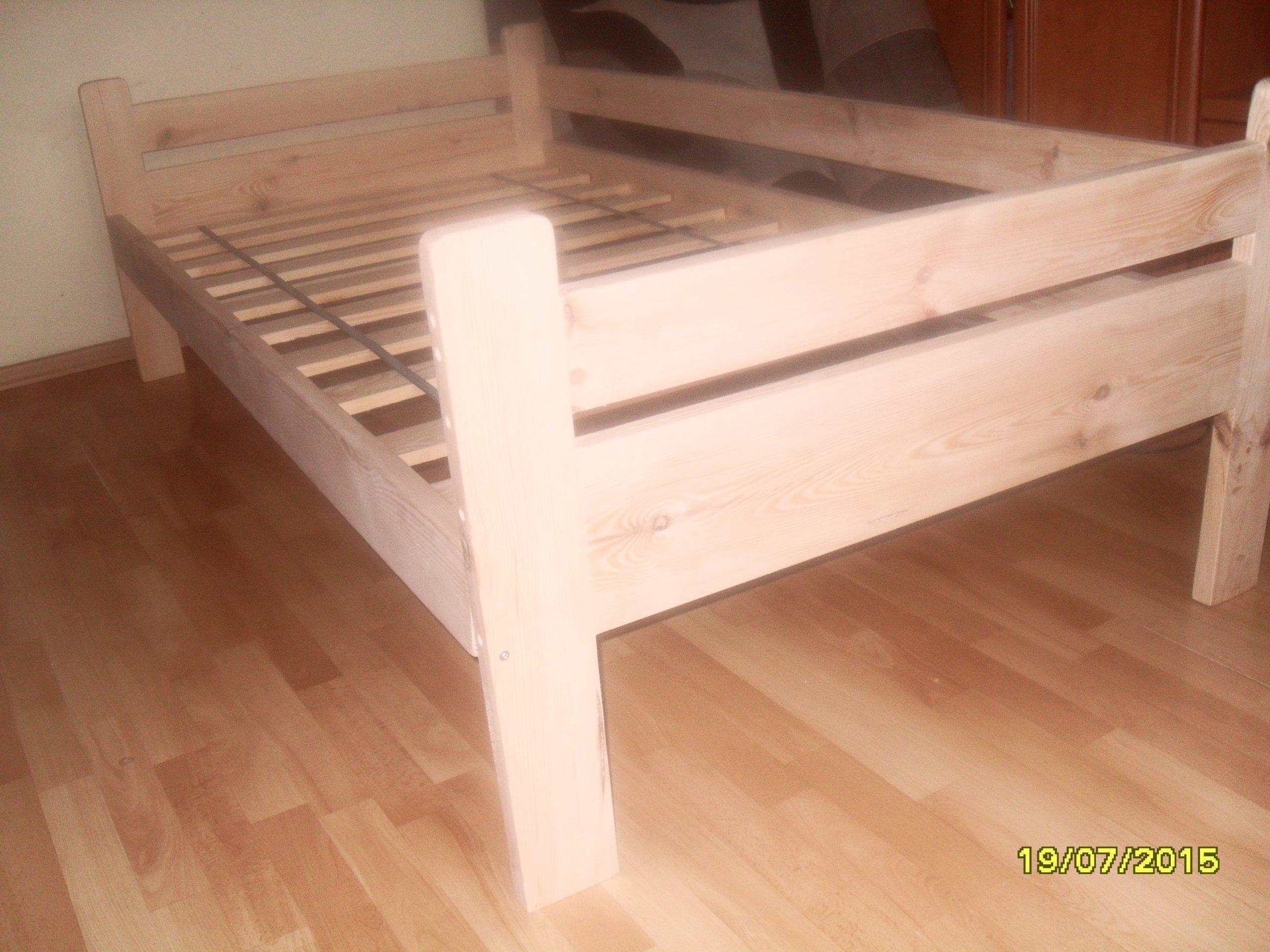 łóżko Sosnowe 90x200 Z Barierką Lakierowane 7254925357 Oficjalne