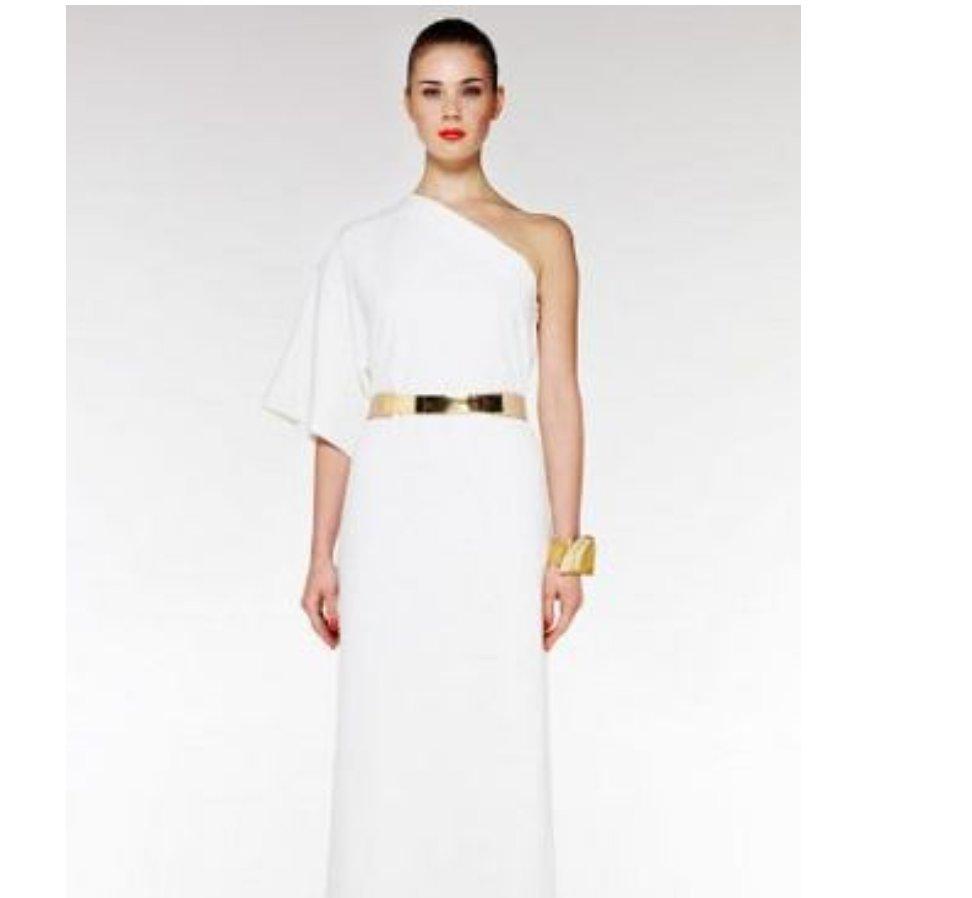 135b9a330727d Sukienka Asos długa biała - 7339942136 - oficjalne archiwum allegro