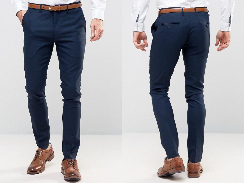 490ef7ac8327a Only & Sons Granatowe Spodnie Eleganckie 46 - 7008673039 - oficjalne ...