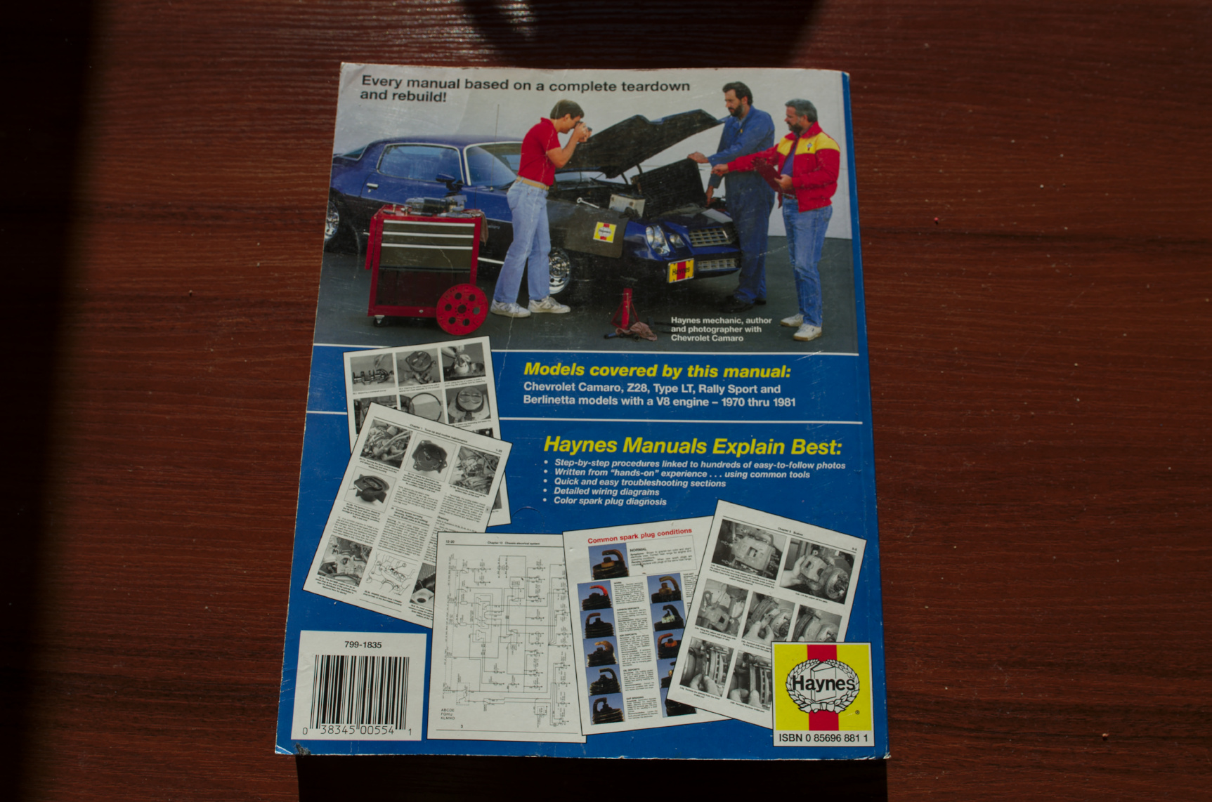 Ksika Serwisowa Chevrolet Camaro 70 81 Haynes 7134362832 1970 Wiring Diagram