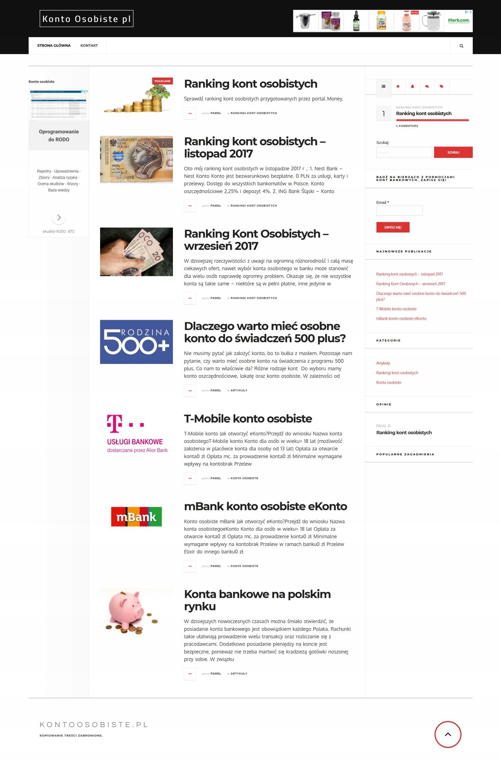 kontoosobiste.pl, konta.info i 8 innych portali