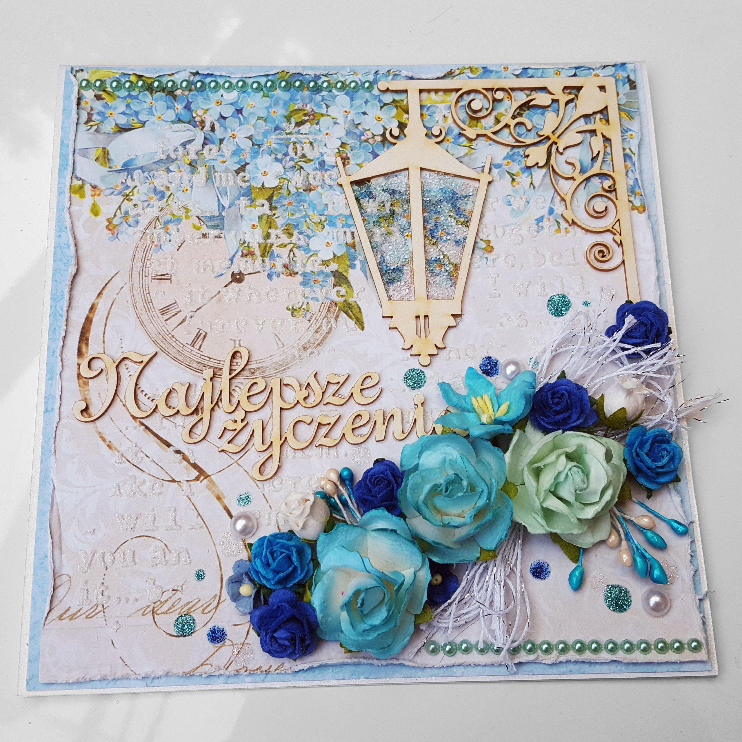 Bardzo dobra Ręcznie robiona handmade kartka urodziny imieniny - 7265057755 UX62