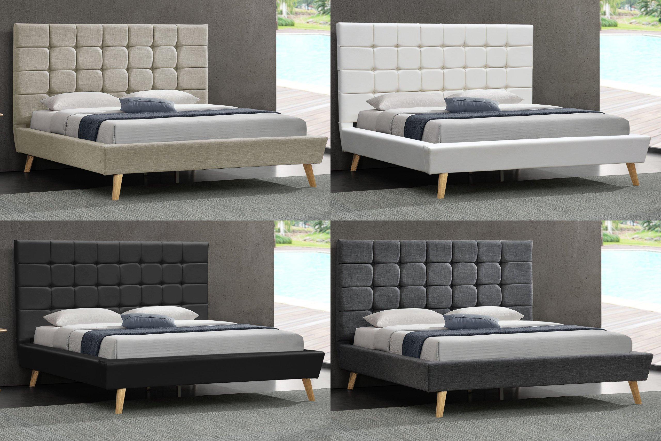 łóżko Tapicerowane Skandynawskie 1236 140x200 7200525332
