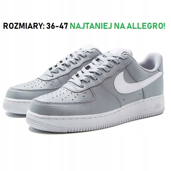 new product 88258 fc0c7 Buty Damskie NIKE AIR FORCE SZARE ROZMIAR 36-47 - 7562518350 ...