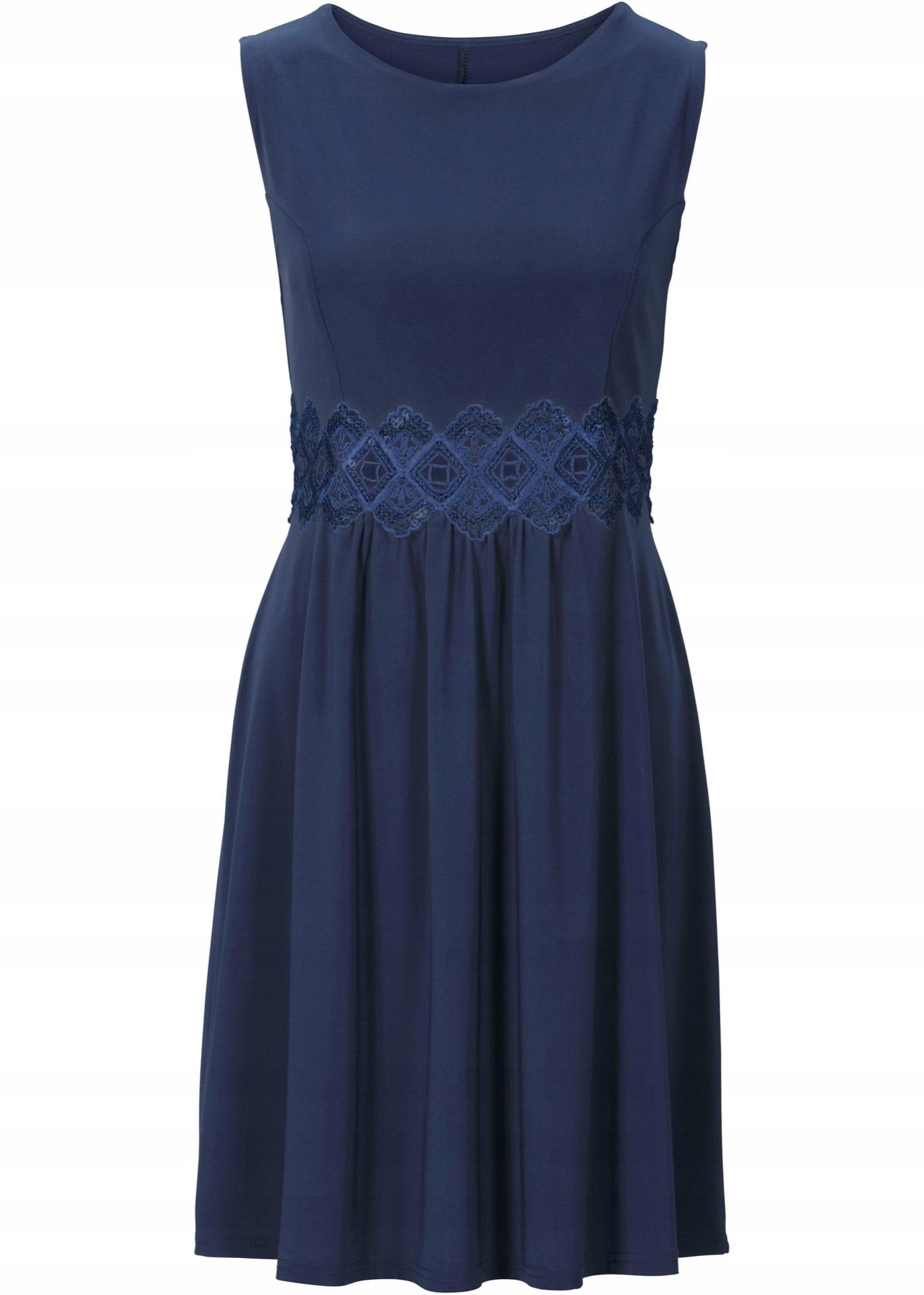 bf432ee06f J375 BPC Sukienka z koronkową wstawką r.44 46 - 7627943008 - oficjalne  archiwum allegro