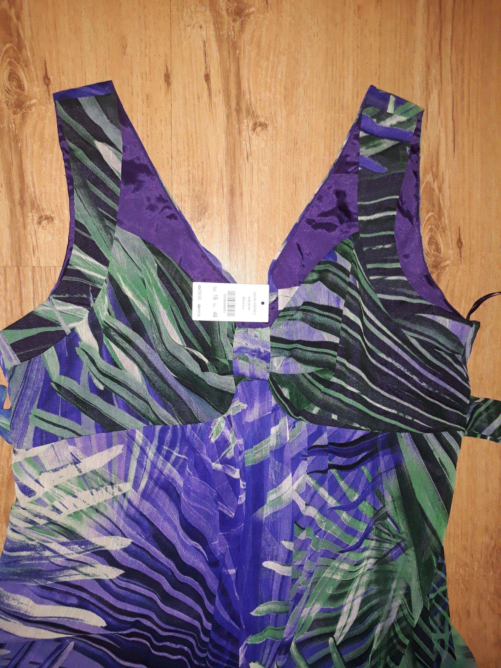 001448230e Lato sukienka maxi długa Piękna Nowa roz.46 xxl - 7399319356 ...