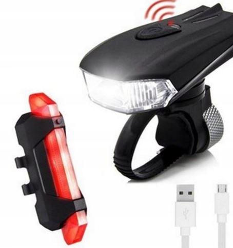 T2807 Lampa Oświetlenie Rowerowe Tył Przód Usb