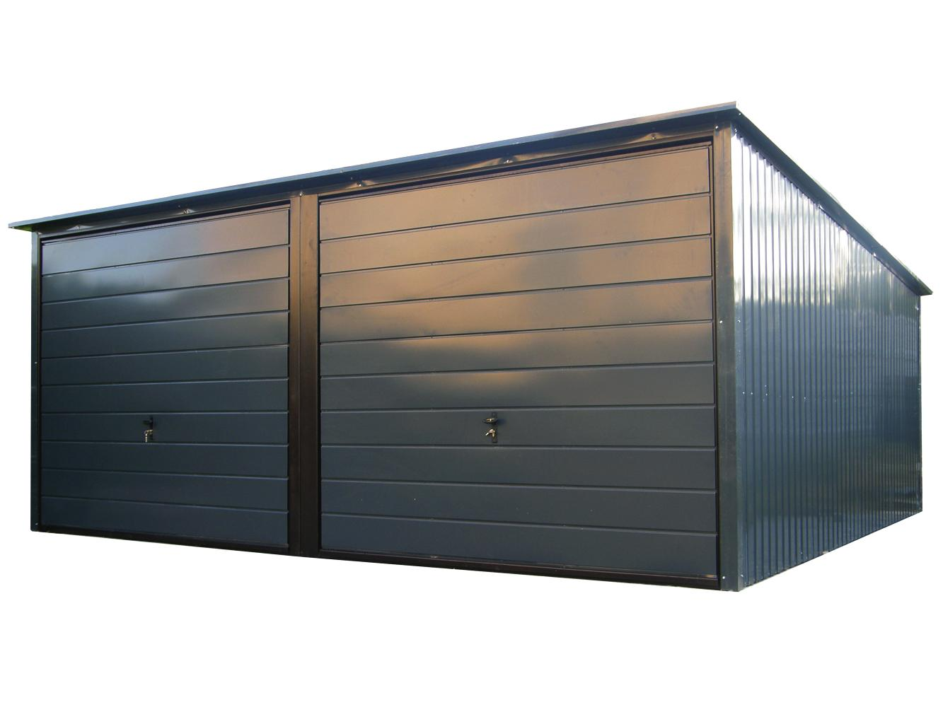 Garaż Blaszany Blaszak Podwójny 5x5 Premium Duży 7165144243