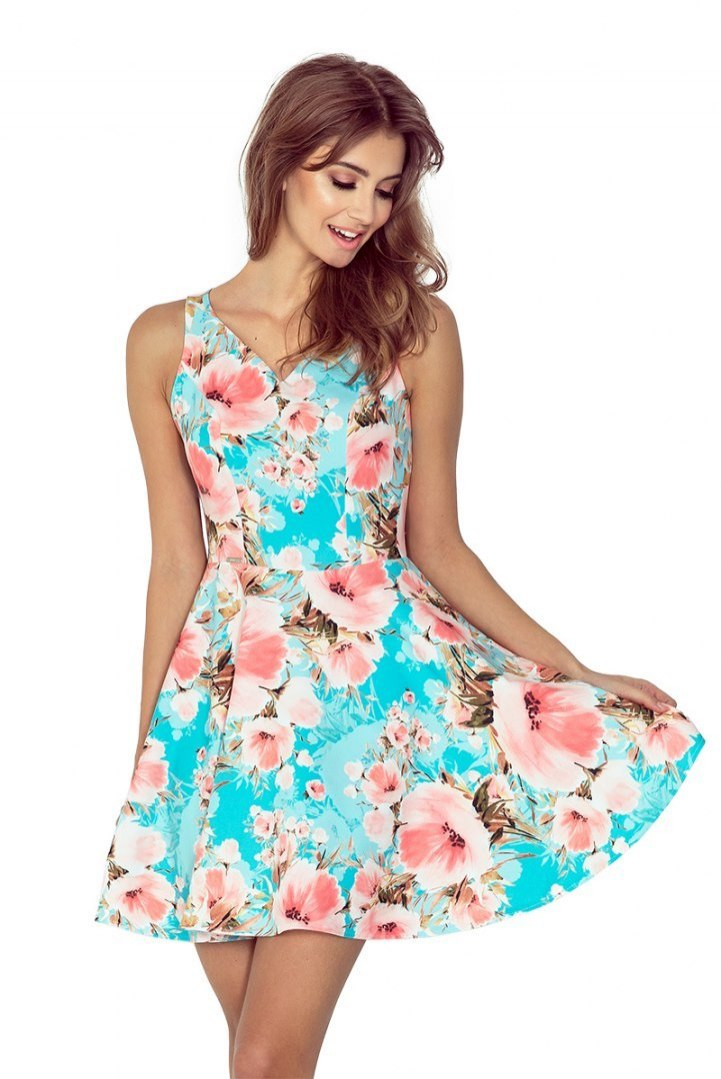 2eee2276bd MM 014-1 Sukienka rozkloszowana - DEKOLT SERCE - K - 7417429882 ...