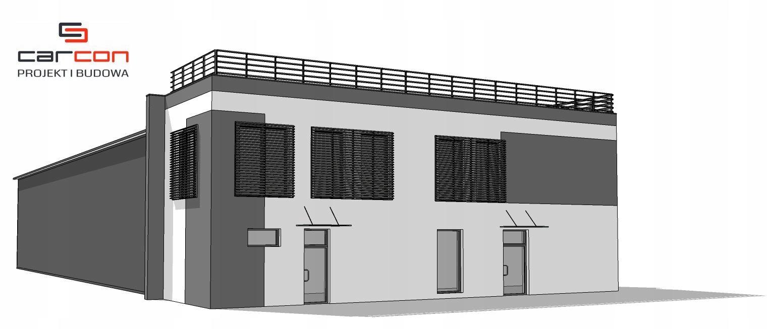 Projekt i budowa Biuro i Hala Magazyn Chłodnia