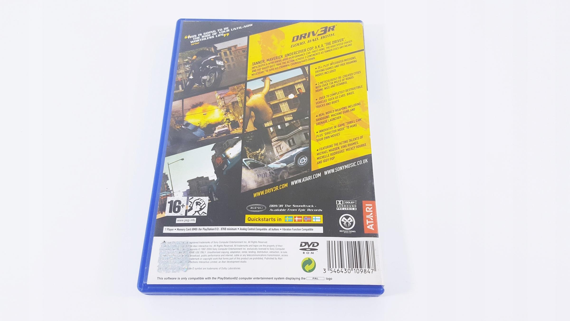 GRA PS2 DRIV3R DRIVER 3 - 7466207152 - oficjalne archiwum allegro