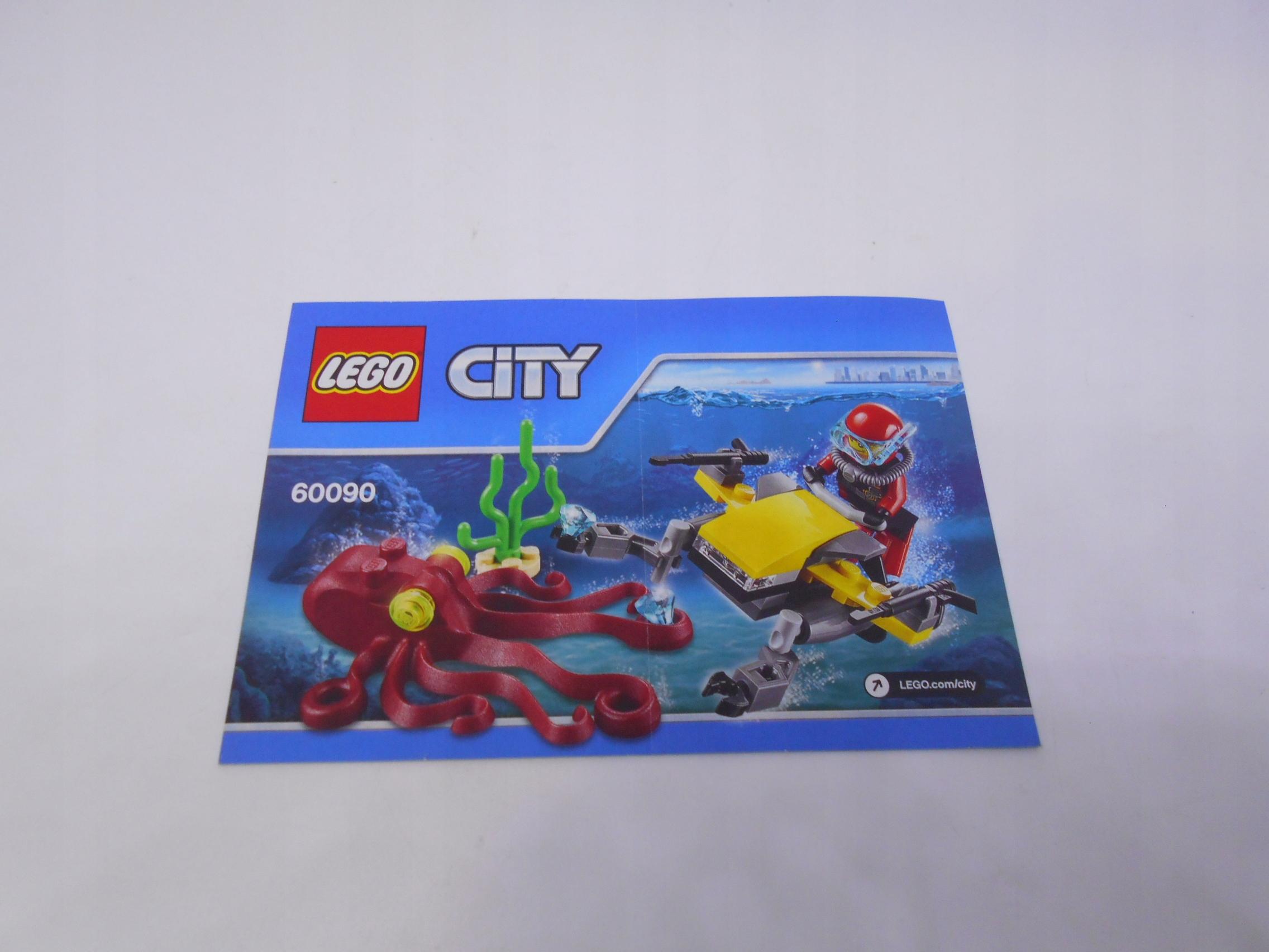 Instrukcja LEGO City Deep Sea Scuba Scooter 60090