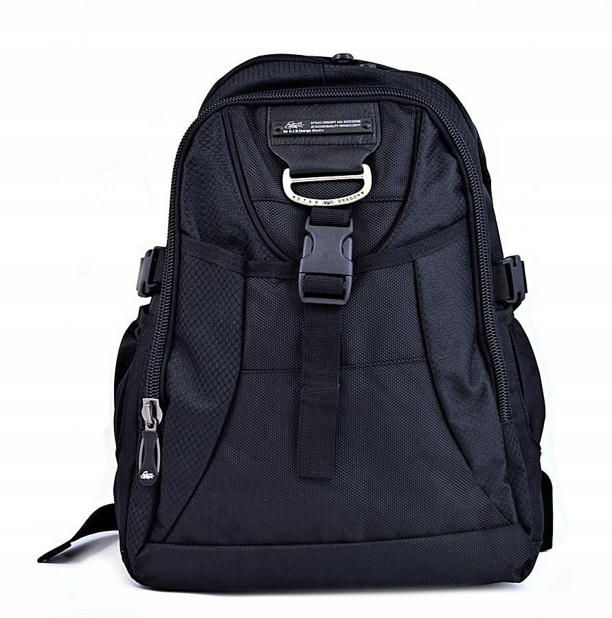 bd43d93fb7b50 Plecak sportowy miejski do szkoły czarny POJEMNY - 7421247759 ...