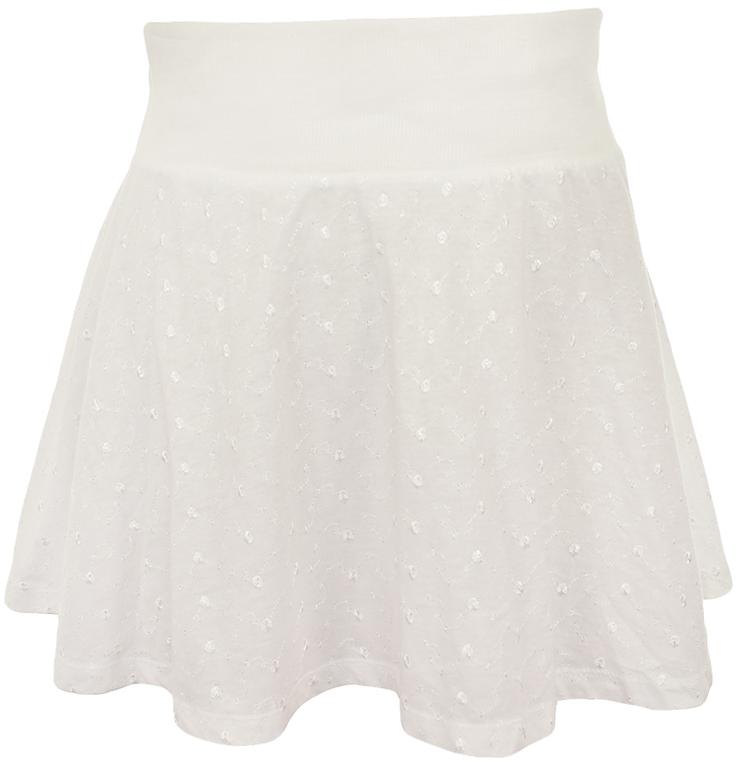 eN8284 nowa biała spódnica z haftem 46 7590444930